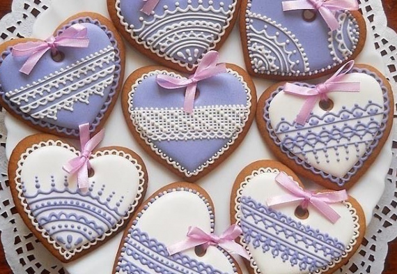 пряник в виде сердца на свадьбу
