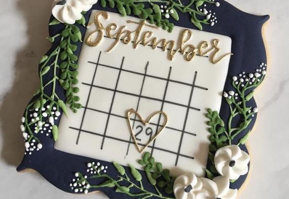 пряник календарь на свадьбу