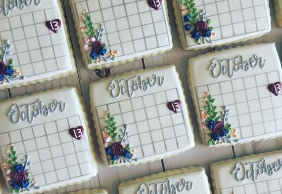 пряник календарь на свадьбу 2