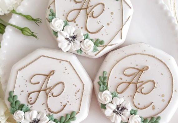 круглые пряники на свадьбу