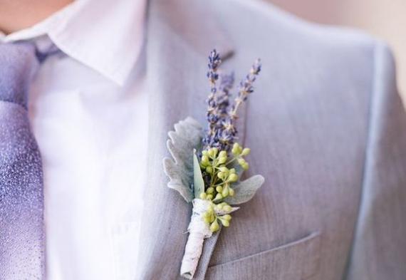 бутоньерки из лаванды на свадьбу