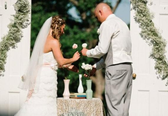 церемония роз на свадьбе