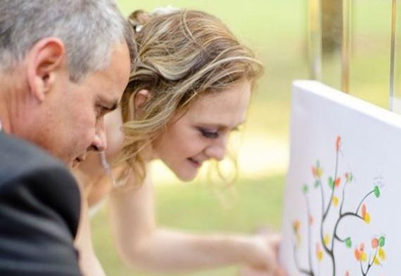 церемония с рисунком на свадьбе