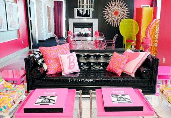 дизайн квартиры для девичника в стиле барби