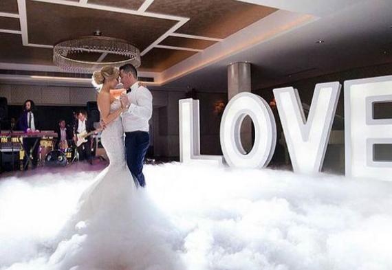 дым для свадебного танца