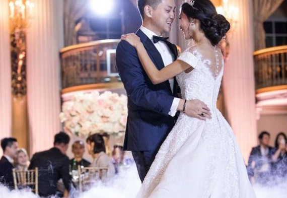 дым на свадебной церемонии