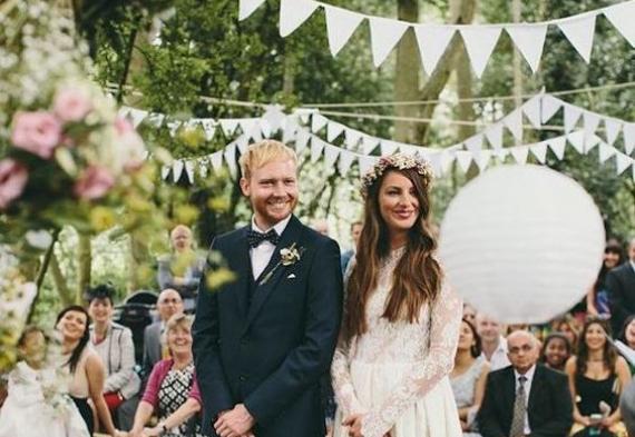 свадебные флажки