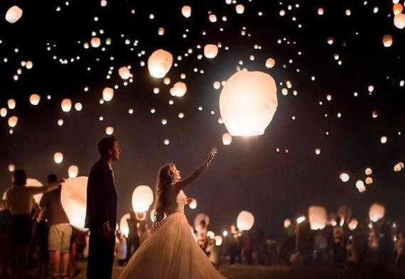 фонарики на свадьбу