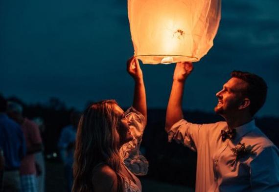 свадебные фонарики