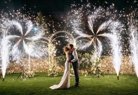 холодный фонтан на свадьбу