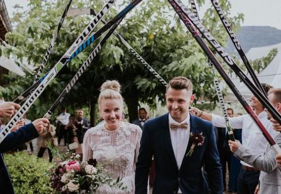клюшки на свадьбе