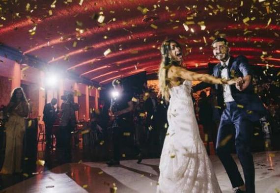 конфетти на свадьбе