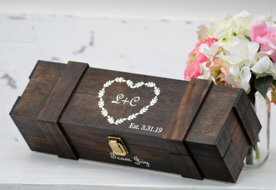 Винная церемония на свадьбе. Коробка, ящик из массива сосны. Цена 3 200 руб