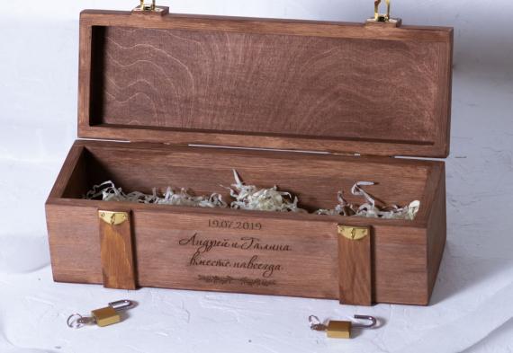 Винная церемония на свадьбе. Изготовим ящик, коробку на заказ. Цена от 2500 руб