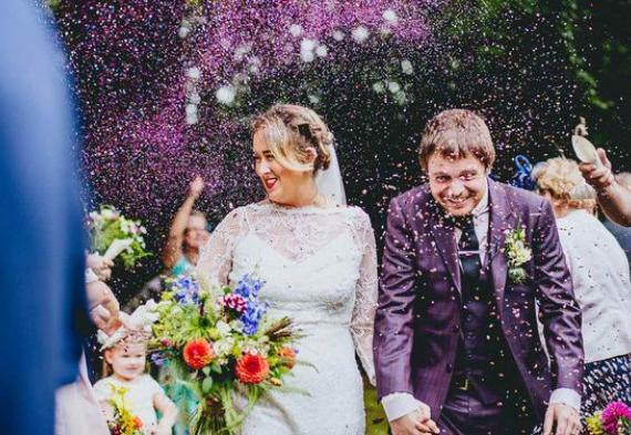 лаванда для осыпания молодоженов на свадьбе