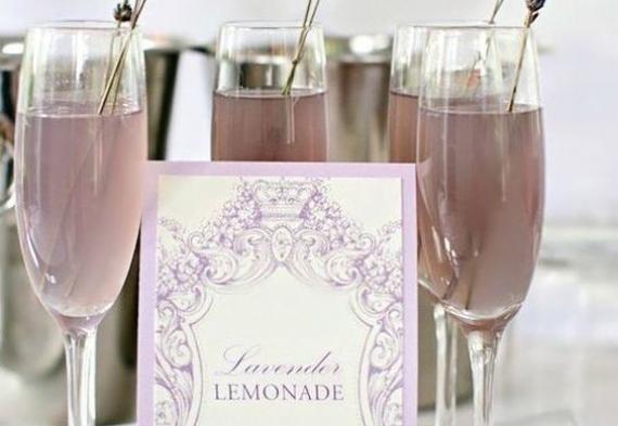 лавандовый лимонад на свадьбу