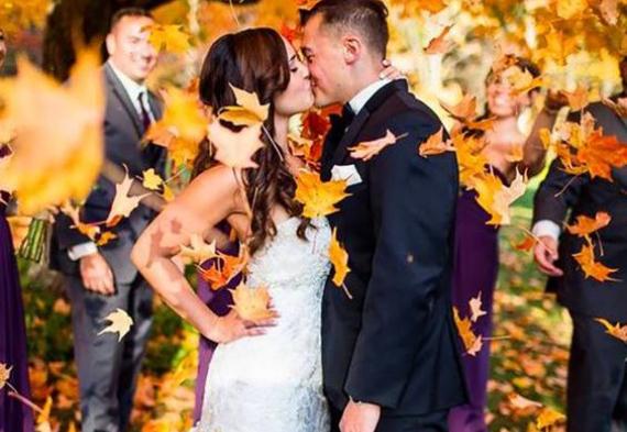 листья на свадьбу
