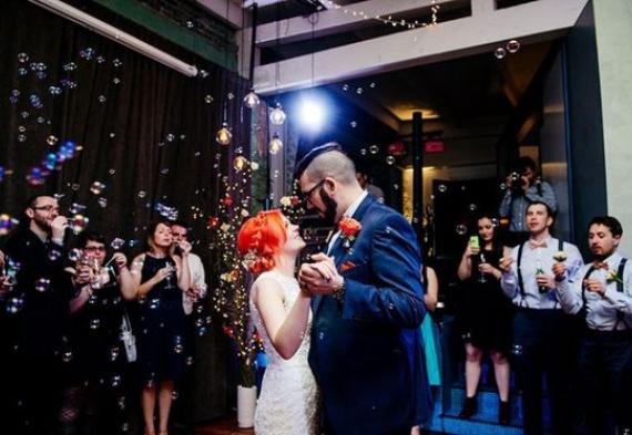 мыльные пузыри для свадебного танца