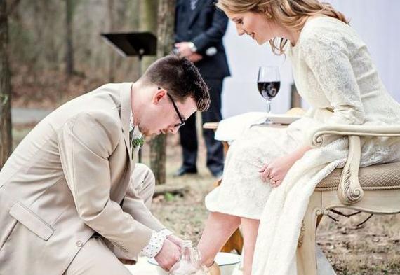 омовение ног на свадьбе