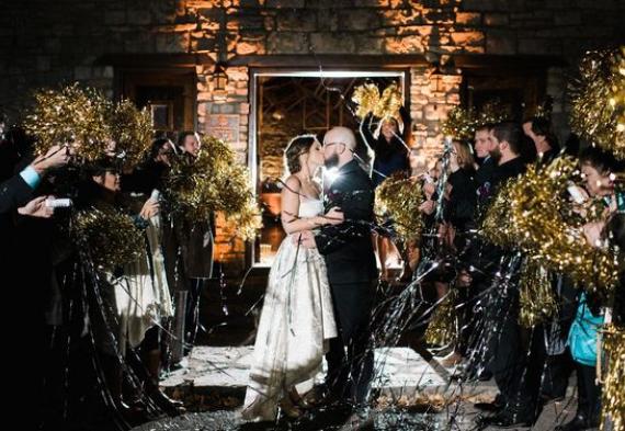 помпоны черлидеров на свадьбу
