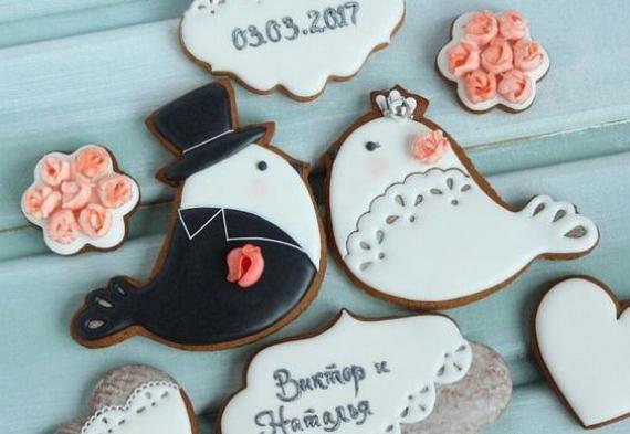 пряник птичка на свадьбу