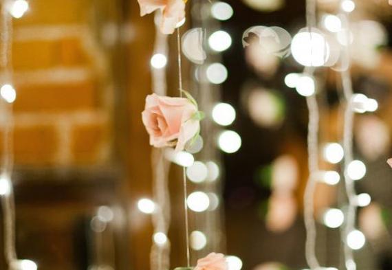 ретро гирлянды для свадебного торжества