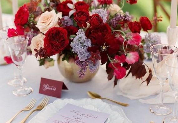 сервировка стола на рубиновую свадьбу