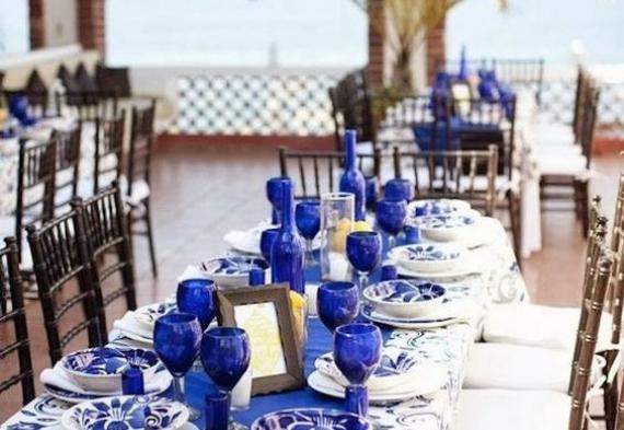 сервировка стола на сапфировую свадьбу