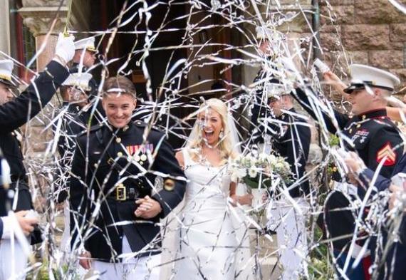 серпантин на свадьбу