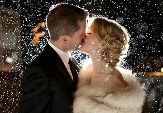 снег для свадебного танца
