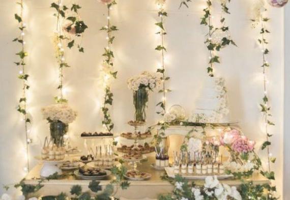 светодиодная гирлянда нить на свадьбу