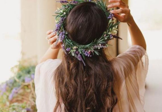 венок из лаванды для невесты