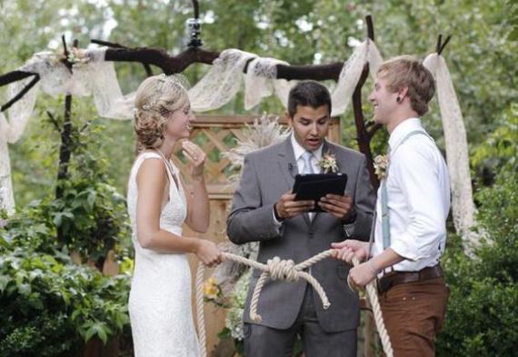 завязывание узла свадьба