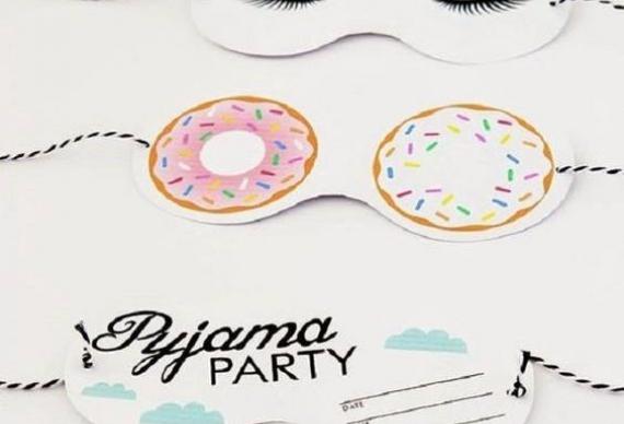 приглашение на пижамную вечеринку из бумаги