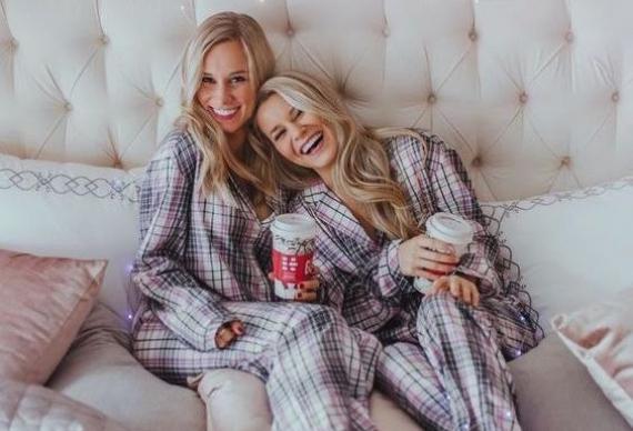 пижама в клетку для вечеринки
