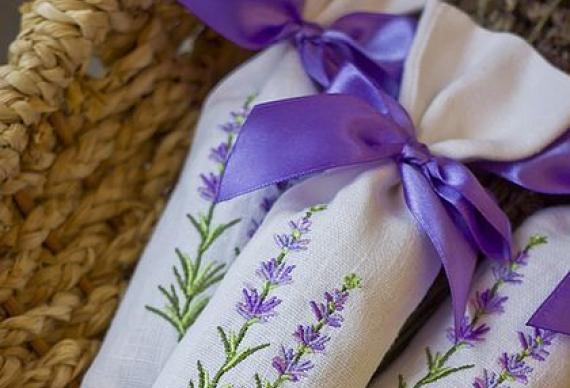 бонбоньерки с лавандой для свадьбы
