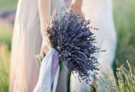 букет из лаванды для невесты