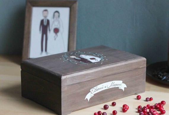 деревянная шкатулка на свадьбу
