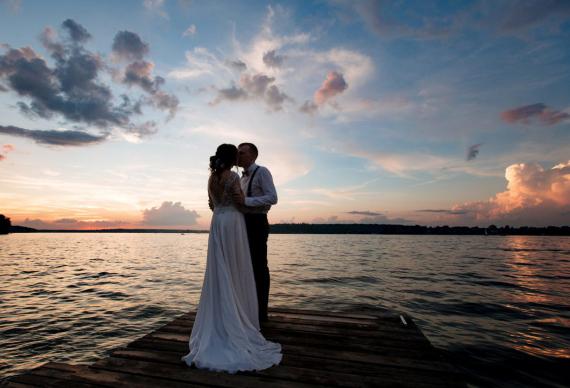 Свадьба у воды Подмосковье