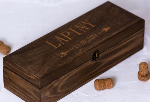 Винная церемония на свадьбу. Коробка, ящик из массива сосны. Цена 2 500 руб.