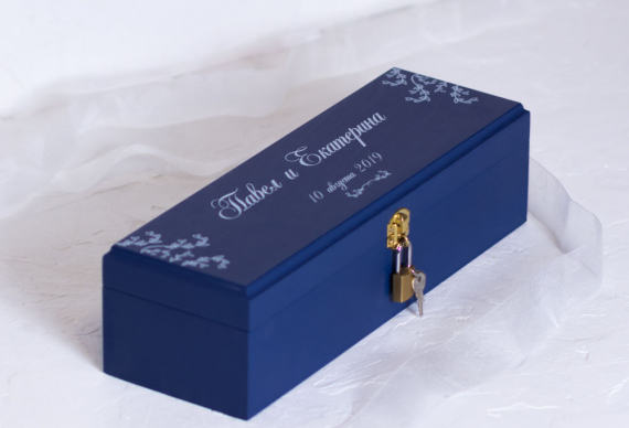 Ящик для винной церемонии на свадьбу. Цена 2 500 руб.
