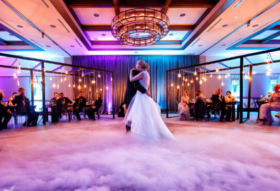 тяжелый дым для свадебного танца