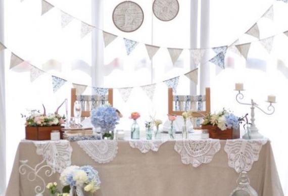 флажки украшение свадьбы