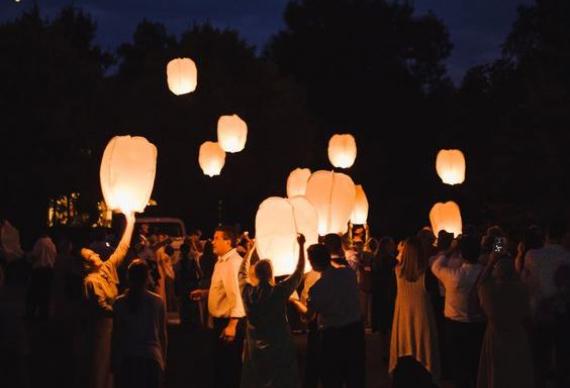 фонарики для свадебной вчеринки