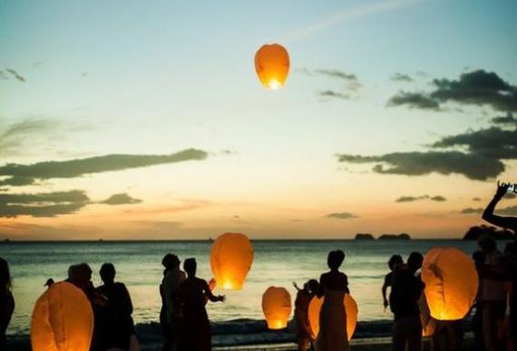 фонарики для запуска на свадьбе
