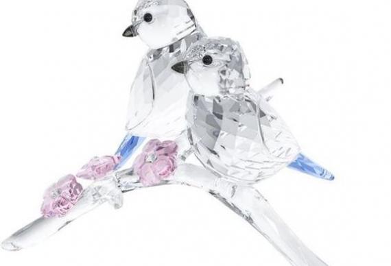 хрустальная фигурка птицы