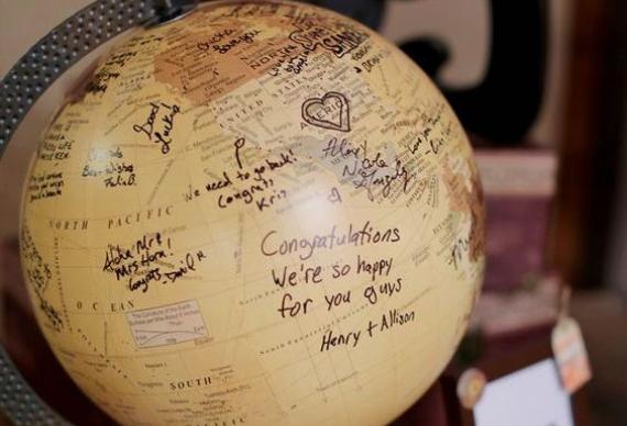книга пожеланий в виде глобуса