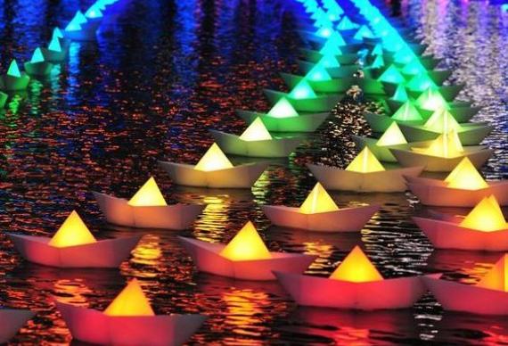 водные кораблики для свадебной вечеринки