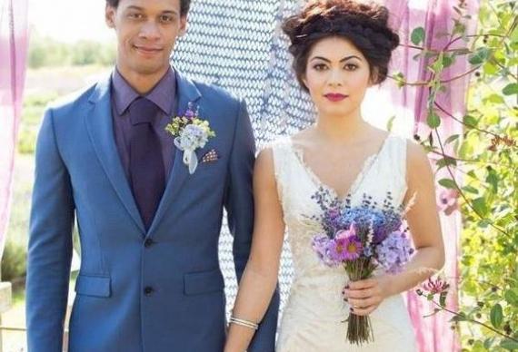 лаванда в свадебном букете