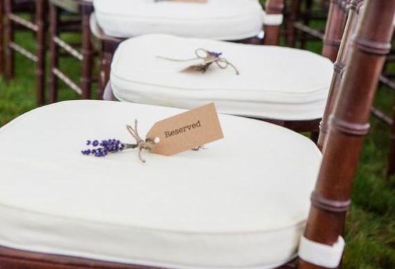 лаванда для резервирования мест для гостей